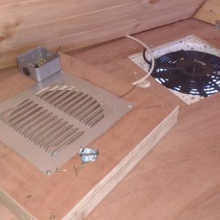 Radiator fan ventilation